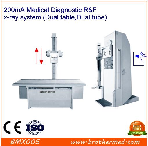 200mA Medical Diagnostic R&F x-ray system (Dual table,Dual tube)
