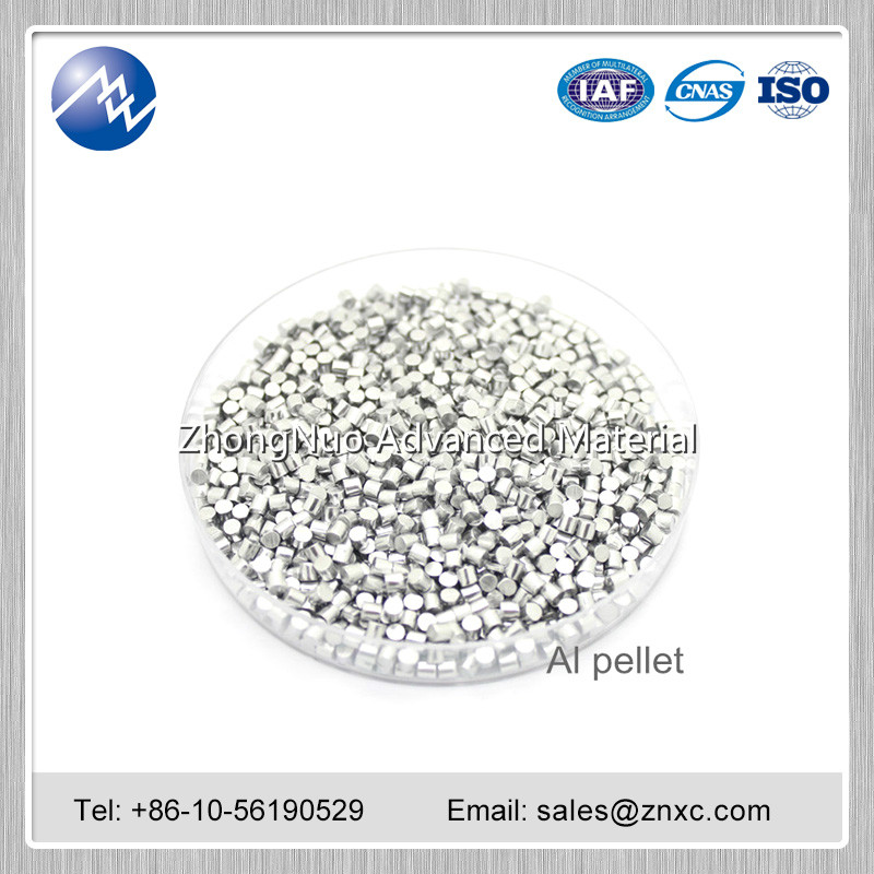 High purity 99.999% 99.9995% Al aluminium pellets