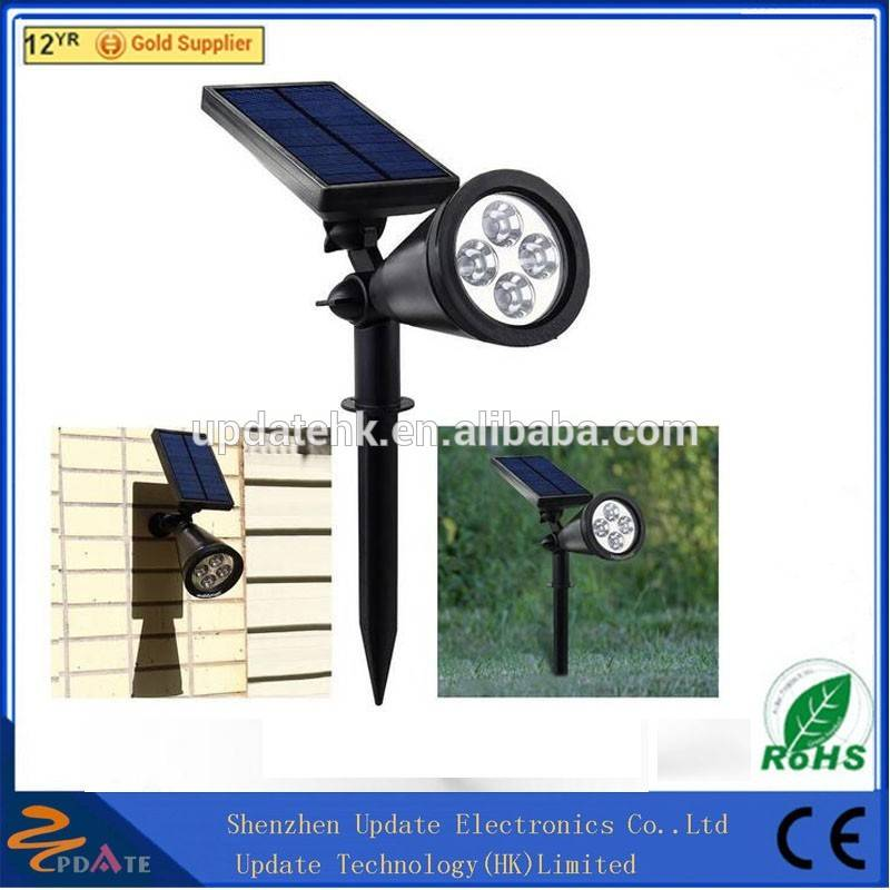 New 200LM Led Solar Stake Lightings Led Spotlight Led Solar Outdoor Garden Spike Spot