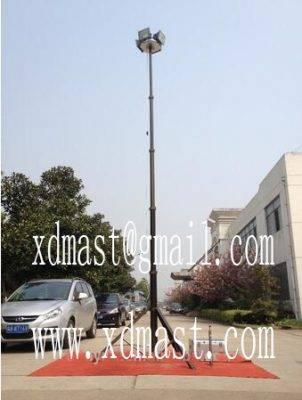 6m Portable tripod telescopic lighting mast