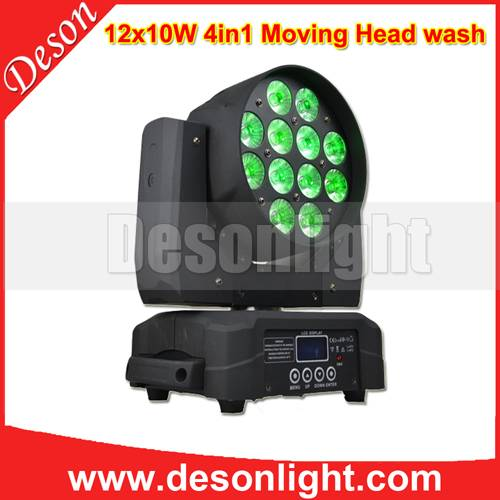 12X10W 4in1 led moving wash light LM-1210