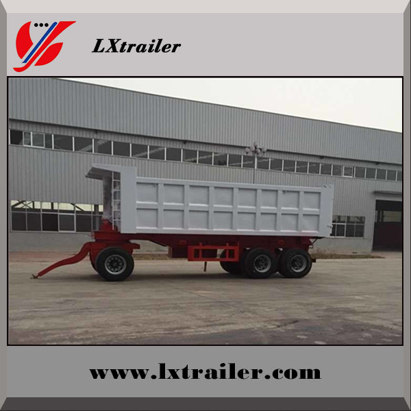 Tractor use hydraulic small dump tipping full trailer with drawbar