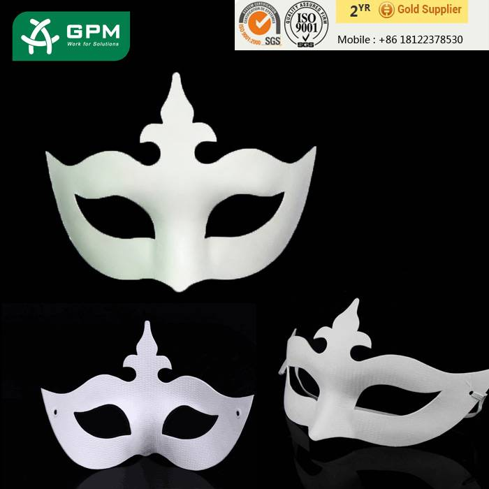 Wholesale Cheap White Paper Mache Masquerade Masks