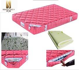 Red Anti-Mites Healthy Knitted Ticking and Pocket Spring Foam Mattresses for Girls with Age Above 15
