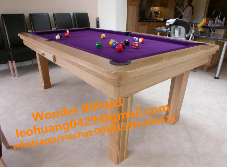 best selling indoor morden convertible 7ft dining pool table