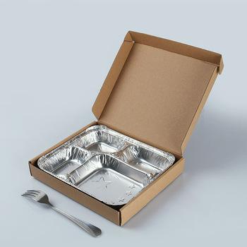 disposable aluminum foil compartment food container