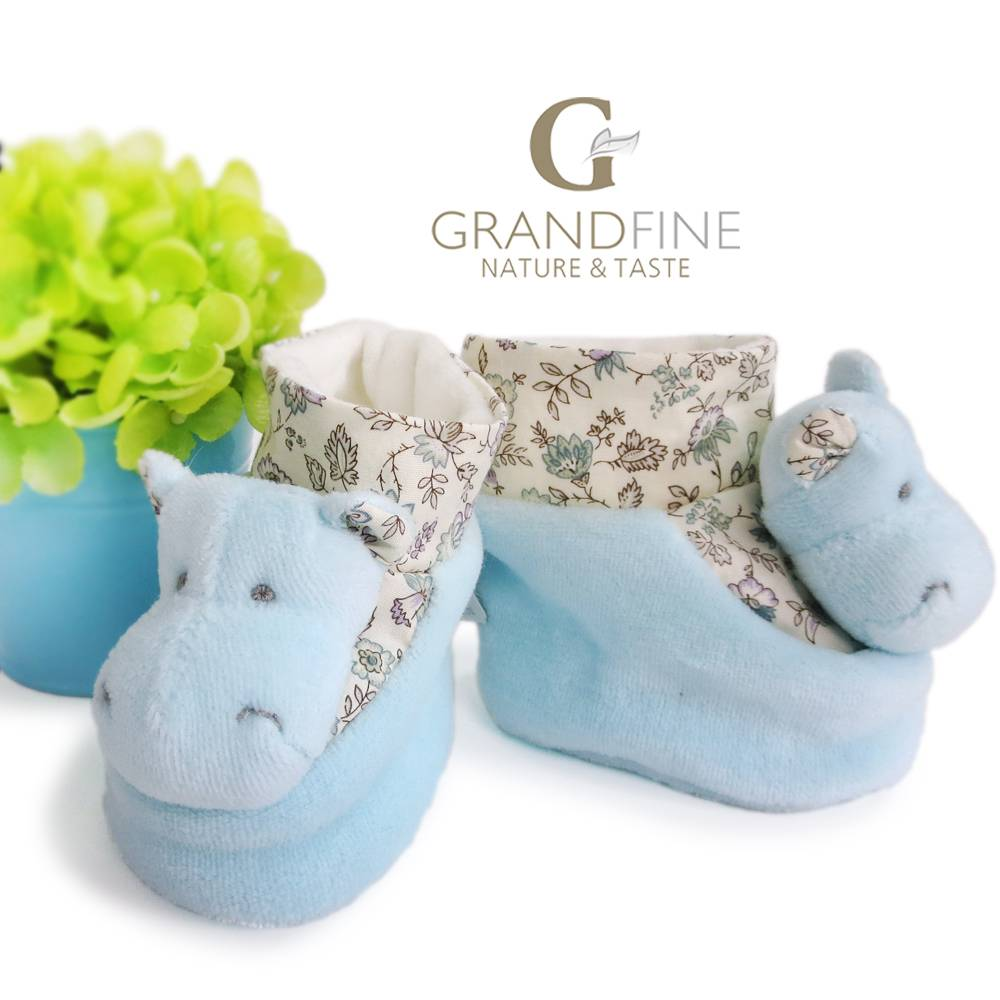 soft velvet baby hippo booties fashion doll setwith EN71 test report and CE mark and Reach docs