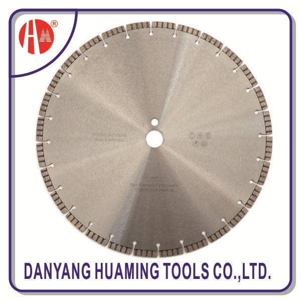 danyang factory Laser Welded Diamond Saw Blade for cutting cured concrete, reinforced concrete and g