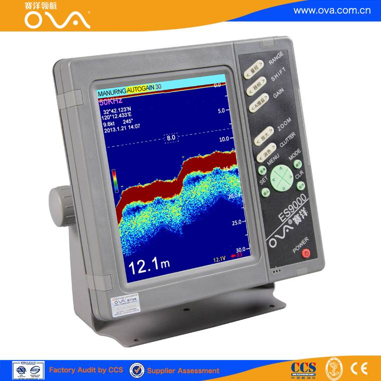 6 inch echo sounder for water depth