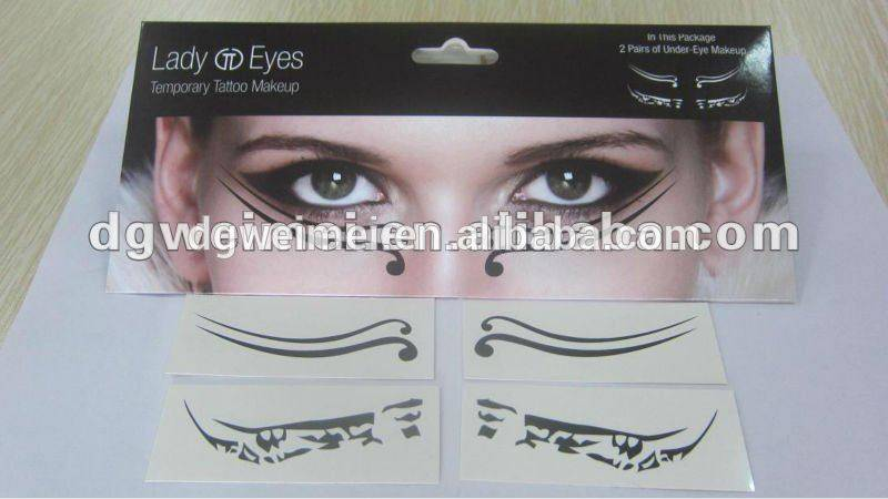 Customized Temporary Waterproof Lady Eyes Tarttoo Sticker
