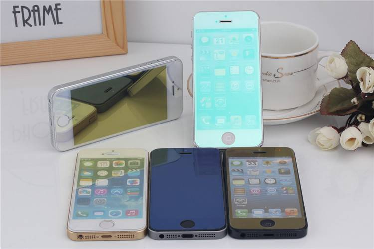 Colorful Tempered glass film, screen protector for Iphone5/5S
