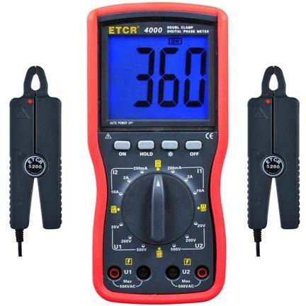 ETCR4000 Series of Double clamp digital phase meter