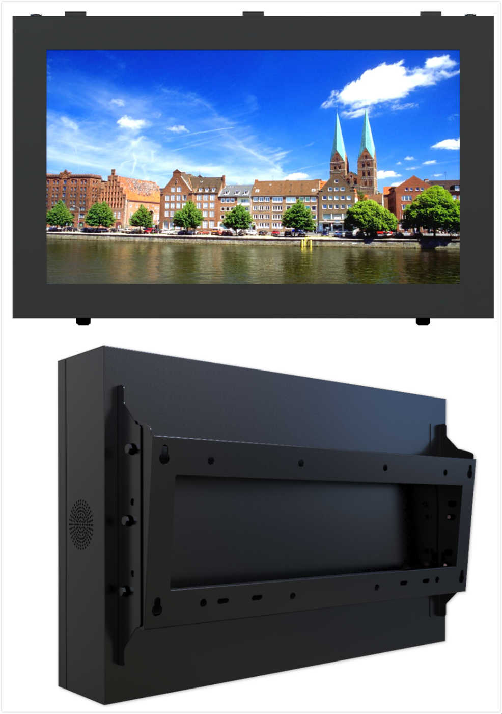"outdoor Wall Mounted LCD Video Wall Screens, 32"" with 4.9mm Bezel, Meeting Room Big Screen"