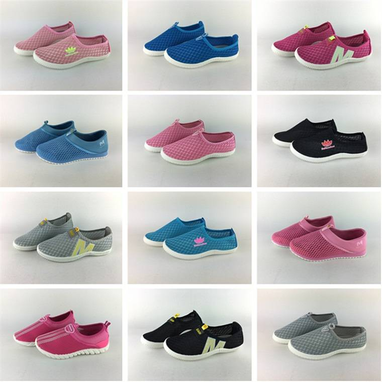 2016 breathable air mesh flat women summer shoes