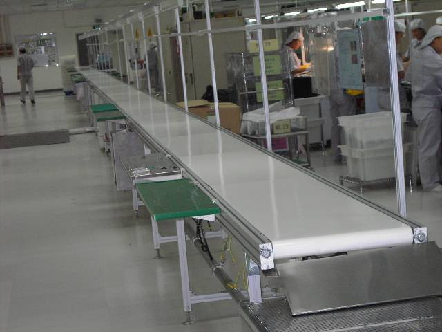 Belt Conveyor with Working Table