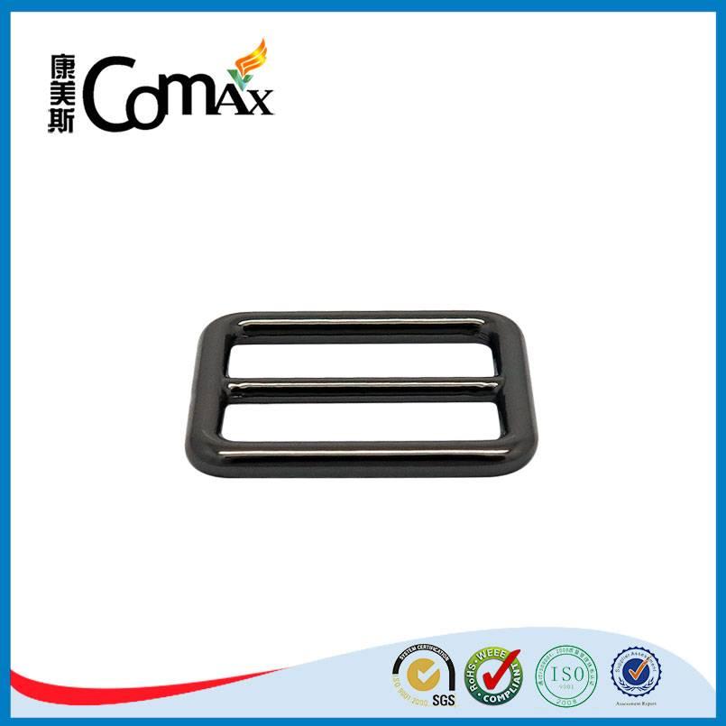 Gunmetal round conner metal adjustable bag buckle
