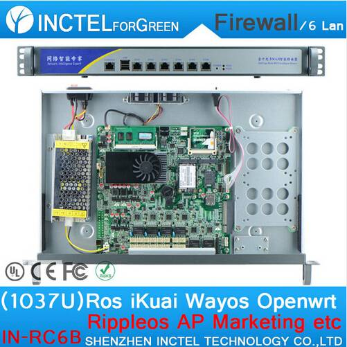 1037U multi gigabit network port routing Enterprise-class firewall router with Intel PCI E 1000M 6 8