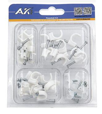 100PCS Plastic Cable Clip Assortment