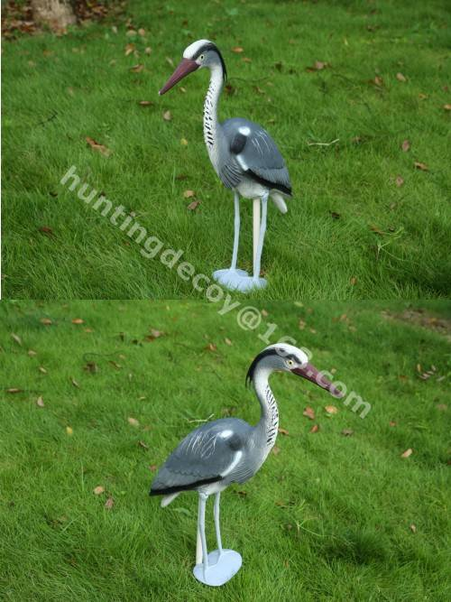 garden decoration hunting decoy heron plastic