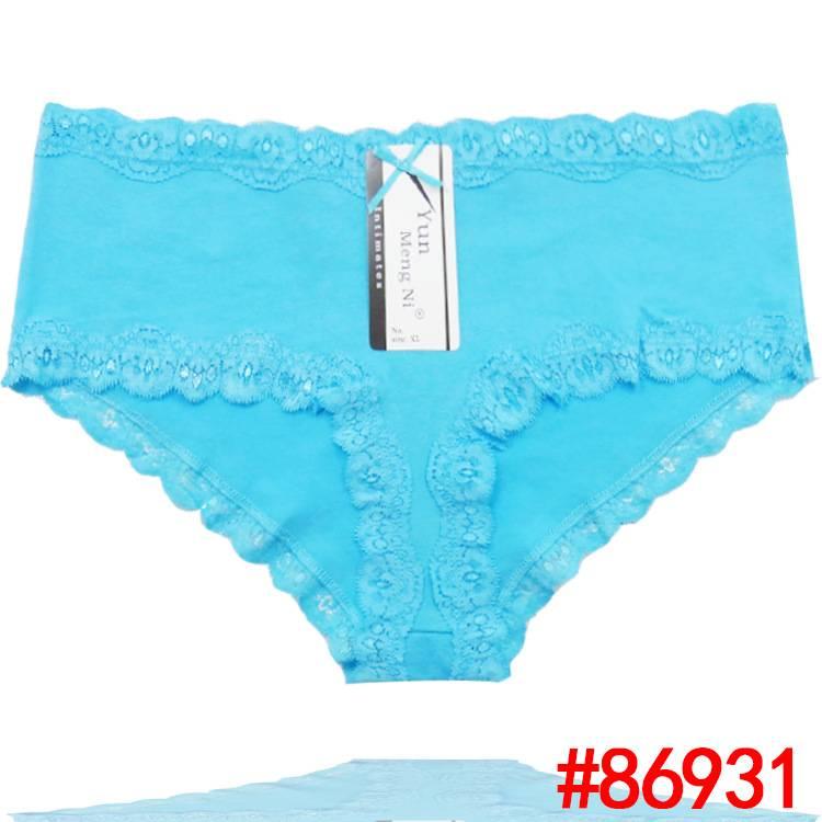 2015 New plain laced cotton boyleg cotton Damenunterhosen brief sexy women underwear stretch lady pa