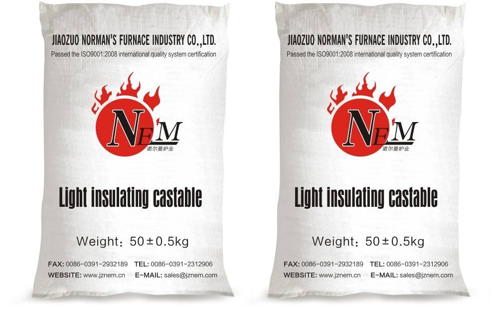 Light insulating castable