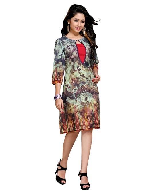 cotton multicolour colour  printed kurti  VTVIC-026