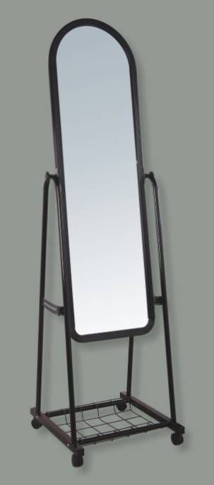 Iron Metal Framed Cheval Mirror, Large Full Body Free Standing Dressing Mirror, Floor Full Length Fi