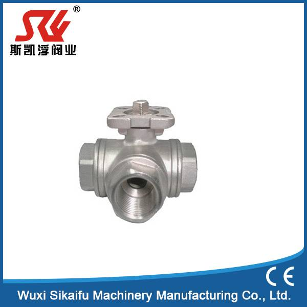 CF8m Stainless Steel 2pc Pneumatic Actuator Ball Valve for Water
