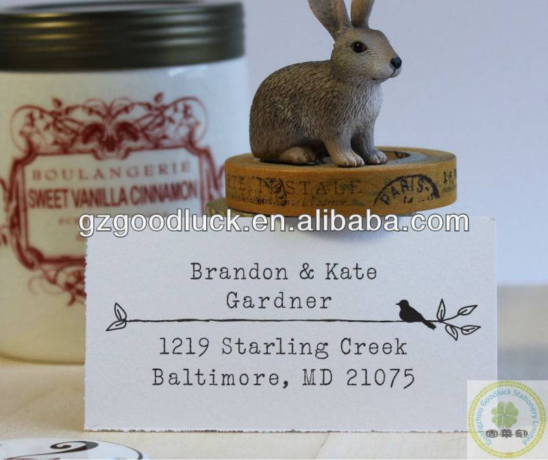 Good quality custom family address stamp/Favourable price custom family address stamp