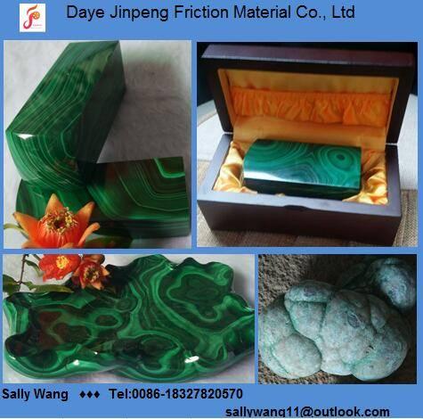 Natural malachite arts and crafts