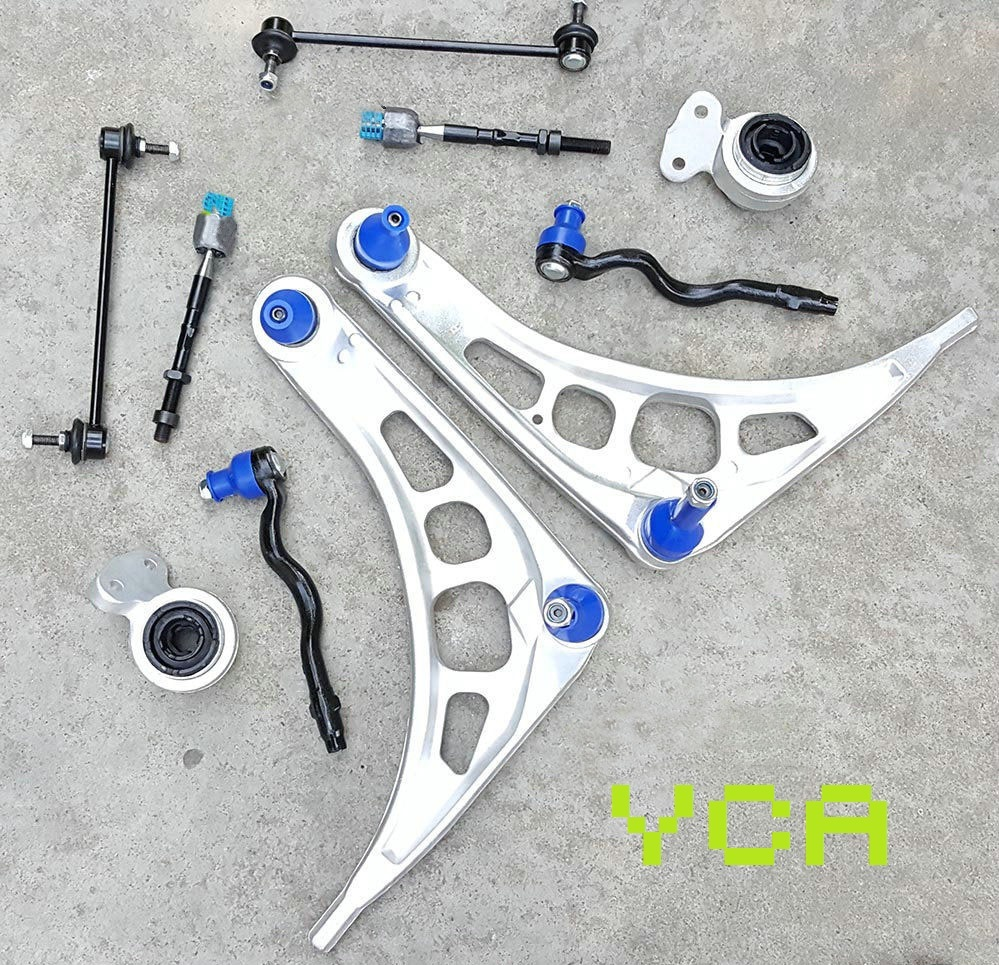 Suspension Kit fits BMW E46 Front Lower Control Arms Tie Rod Ends Sway Bar Links