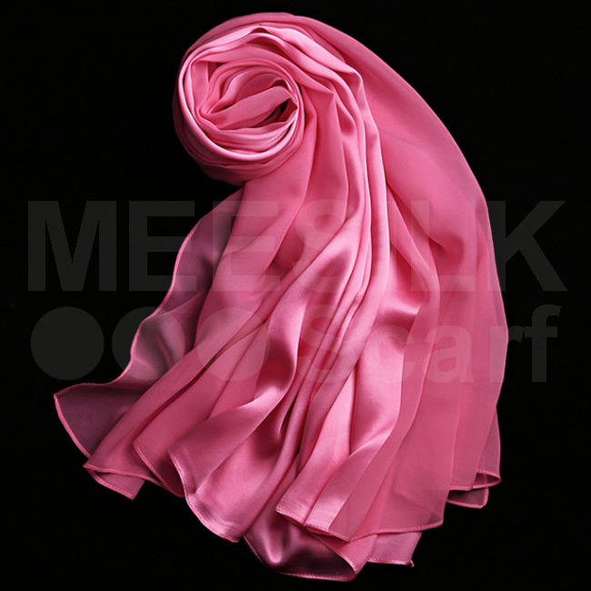Elegant Muslim Ladies Wear Design Chiffon Scarf hijab Candy Pink Color
