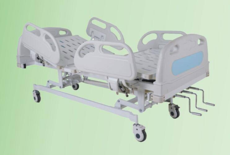 Three cranks manual care bed