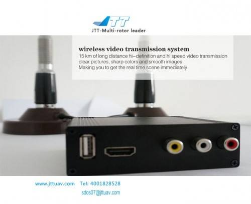 JTT 1000Mw AV Wireless Video Transmitter Receiver TX/RX System For UAV