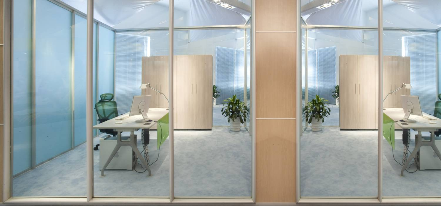 Denna office partition single glass wooden office partition wall double glass partition wall