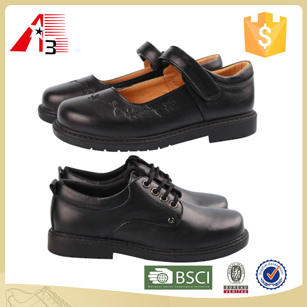 leather boys girls children kids school shoes