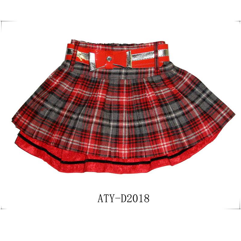 kids girls woven skirts