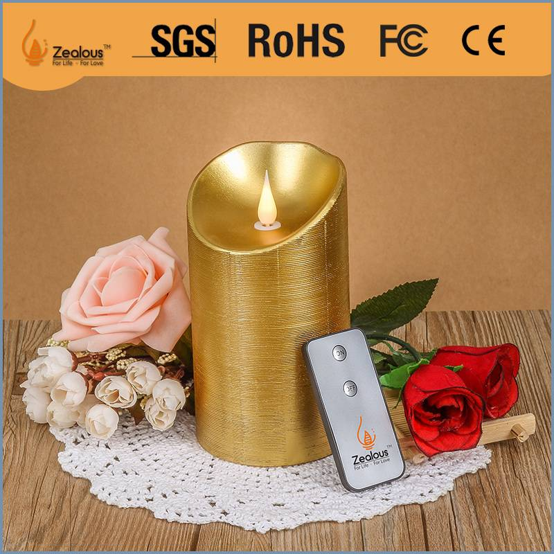 Home decoration moving wick flameless led candle