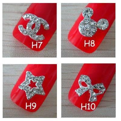 2011 fashion 3D alloy nail art