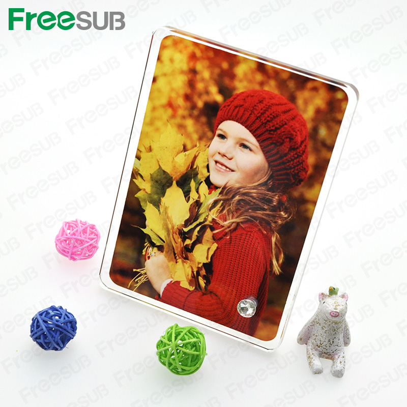 Sunmeta beautiful blank sublimation coated 18013010 heat press glass photo frame