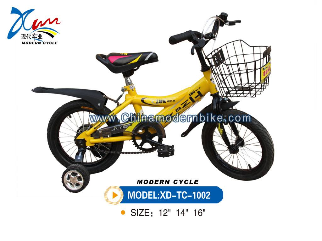 Yellow baby bike