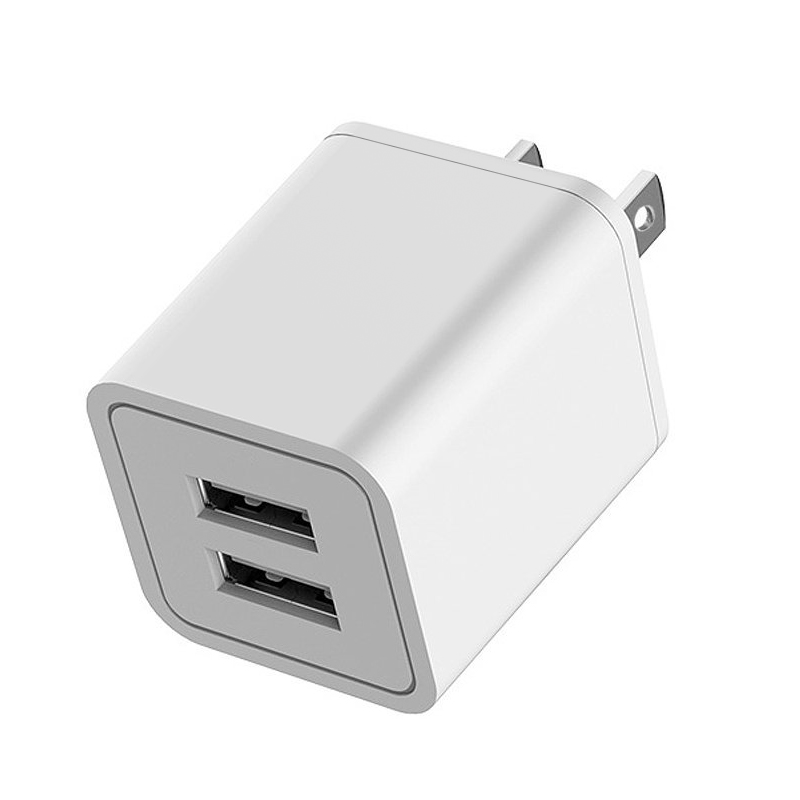 Wall Charger, 2.1A Dual USB Universal Portable Charger with Smart Technology