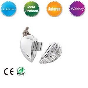 Diamond Heart USB Flash Drive