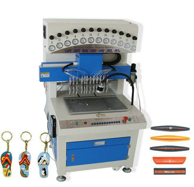 12 colors PVC dispenser machine for Keychains
