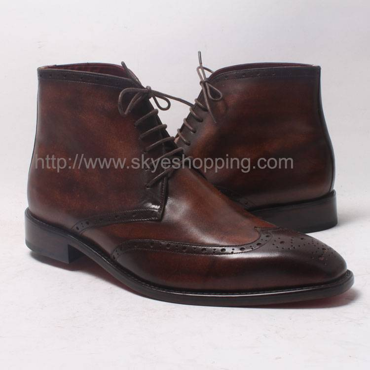 Men's Brogue Goodyear Craft Genuine Cowboy Leather Boot