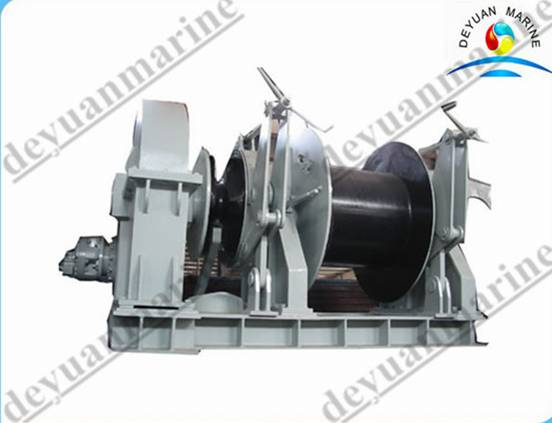 Marine hydraulic anchor windlass and mooring winch