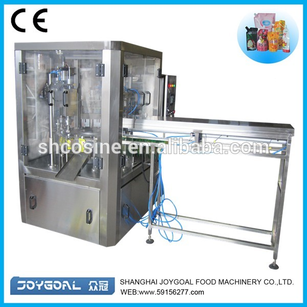 spout pouch filling and capping machine shanghai factory