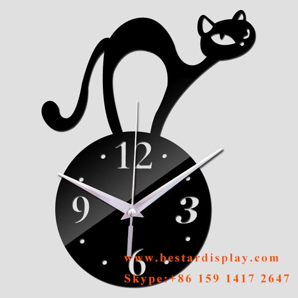 Lovely design Plexiglass PMMA acrylic wall clock