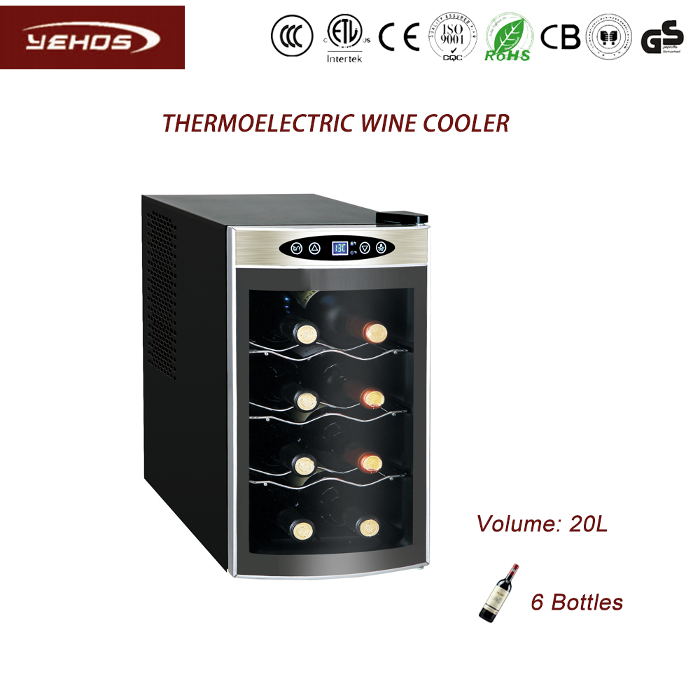 8 bottles of thermoelectric wine cooler