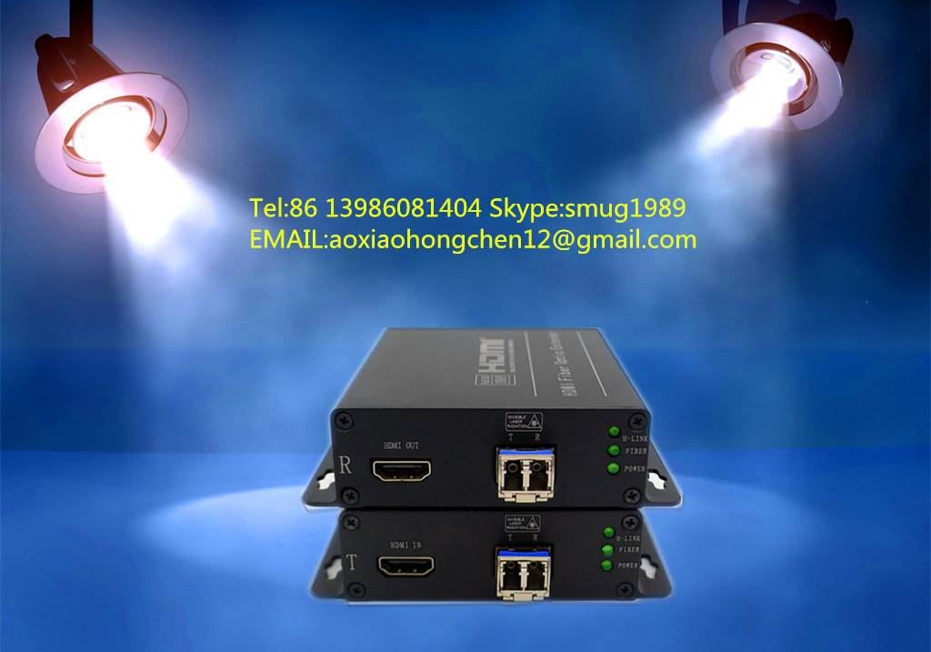 4K HDMI fiber optic extender,support  HDMI 1.4 and 3D video signal transmission,maximum resolution: